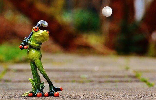 カエルのゴルフ