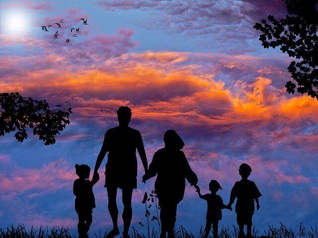 5人家族シルエット