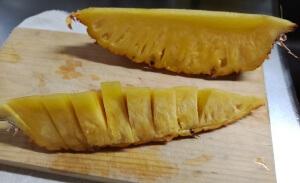 台湾パイナップル食べ方2