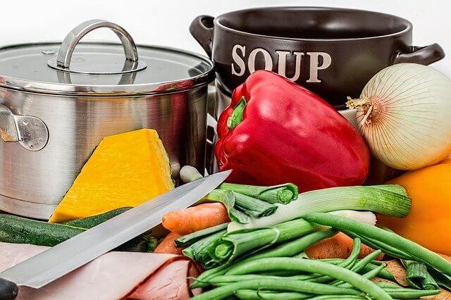 スープの具材野菜