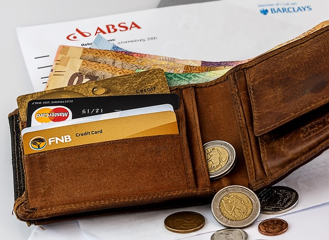 財布とお金とカード